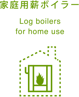家庭用薪ボイラー Log boilers for home use